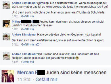 Bild: Screenshots aus Facebook