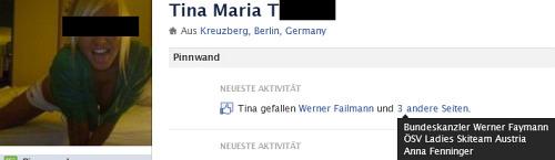 Tina mag den Kanzler. Aber auch Failmann. Und Schifahren.